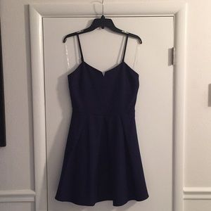 EUC navy fit and flare dress